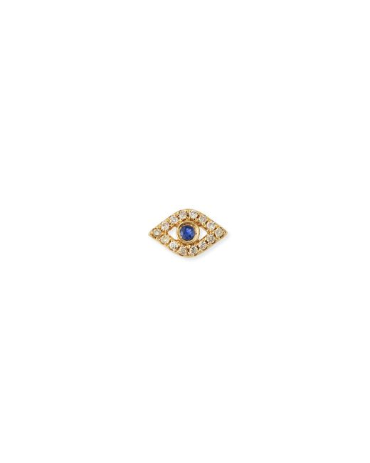 Sydney Evan - Metallic 14k Diamond Mini Evil Eye Single Stud Earring - Lyst