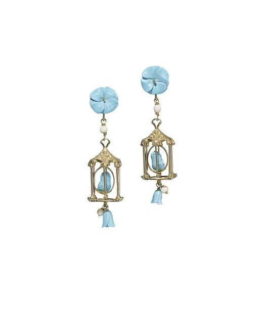 Of Rare Origin - Blue Pagoda Turquoise Drop Earrings - Lyst