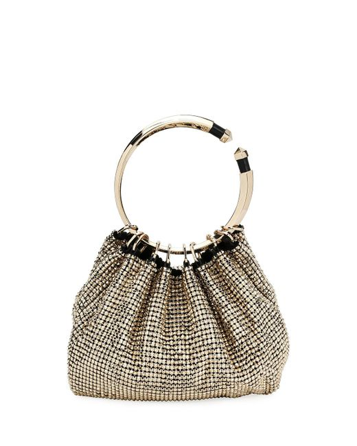 Valentino | Metallic Bebop Ring Loop-handle Clutch Bag | Lyst