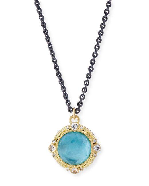 Armenta - Metallic Old World Midnight Oval Crivelli Necklace With Diamonds - Lyst