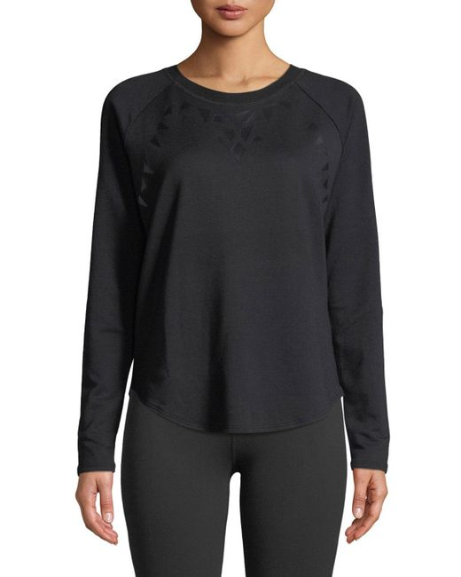 Beyond Yoga - Black Calico Scoop-neck Long-sleeve Pullover Sweater - Lyst