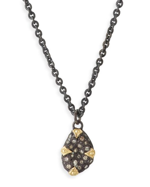 Armenta | Metallic Old World Diamond Bean Necklace | Lyst
