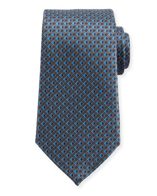 Ermenegildo Zegna | Gray 3d Micro-diamond Neat Tie for Men | Lyst