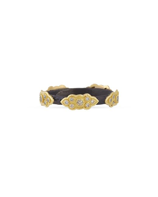Armenta | Metallic Stackable Champagne Diamond Scroll Ring | Lyst