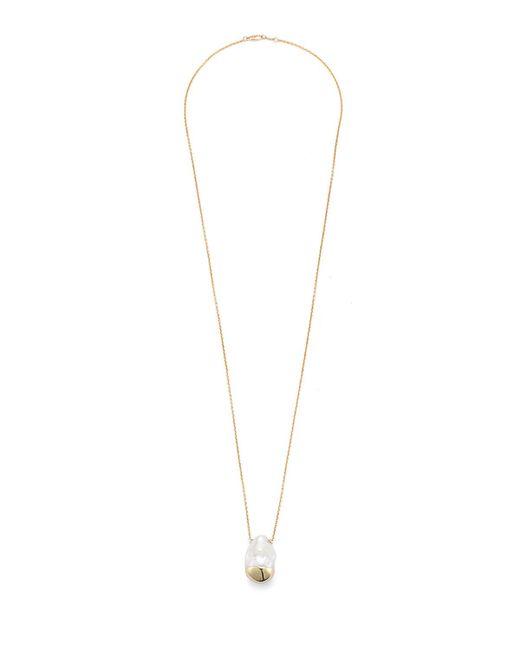 Mizuki | Metallic Sliding Baroque Pearl Pendant Necklace | Lyst