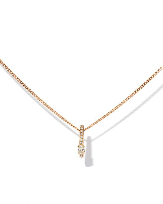 Repossi - Metallic One-row Pendant Necklace With Diamonds In 18k Rose Gold - Lyst