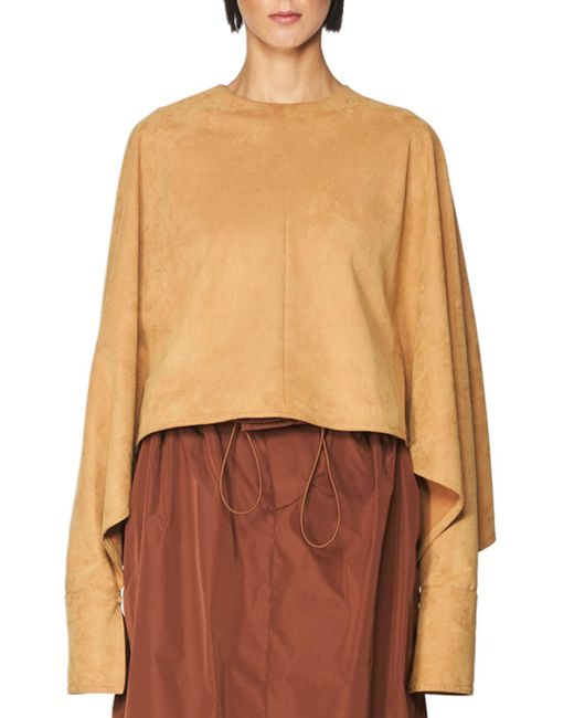 Stella McCartney | Brown Faux-suede Dolman Top | Lyst