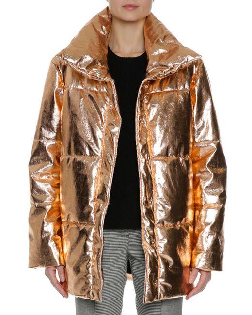 MSGM | Metallic Quilted Puffer Coat | Lyst