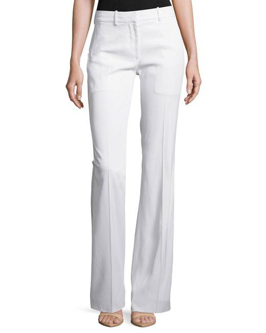Calvin Klein | White Stretch Flare-leg Pants | Lyst