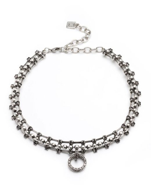 DANNIJO - Metallic Vixie Pearly Statement Necklace - Lyst