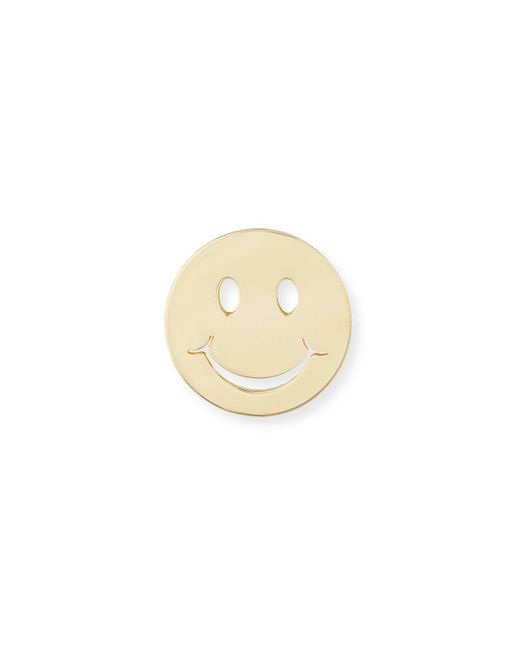 Sydney Evan - Natural Pure Happy Face Stud Earring - Lyst