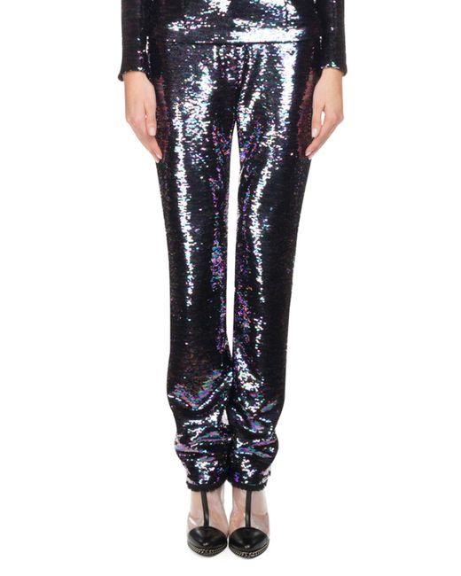 Balmain - Purple Oil Slick Sequined Straight-leg Pants - Lyst