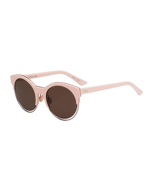 10e248f541 Lyst - Dior Sideral 1 Cat-eye Sunglasses in Pink