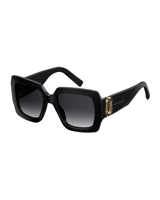 Marc Jacobs | Black Chunky Square Acetate Sunglasses | Lyst