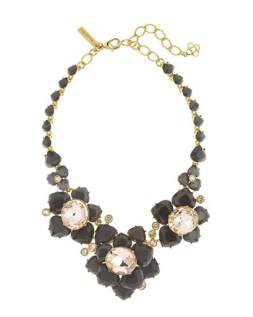 Oscar de la Renta | Metallic Faceted Resin Flower Statement Necklace | Lyst