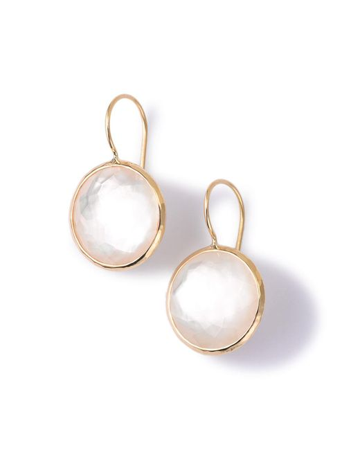 Ippolita - Metallic 18k Gold Lollipop Drop Earrings In Mother-of-pearl Doublet - Lyst