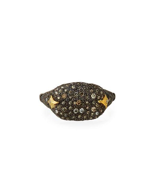 Armenta - Metallic Old World Diamond Pave Cocktail Ring - Lyst