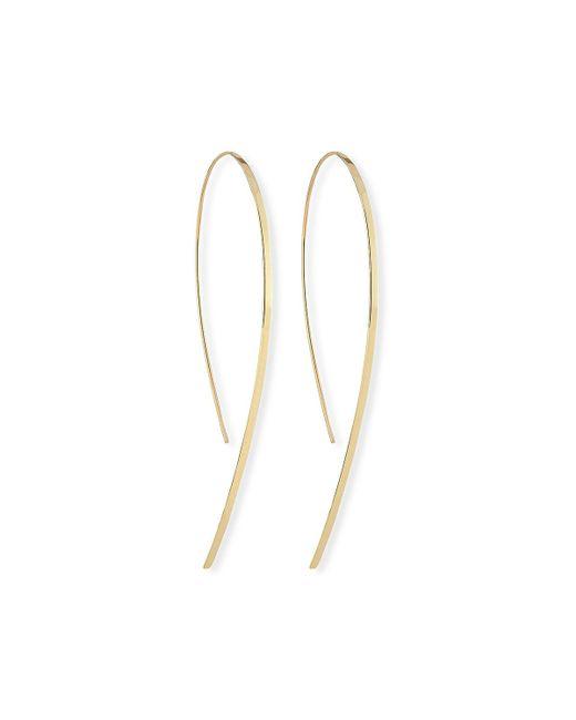 Lana Jewelry - Metallic Small Flat Hook-on Hoop Earrings - Lyst