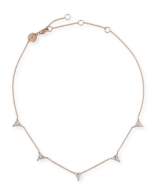 Jennifer Zeuner - Luz Trillion-cut White Sapphire Necklace - Lyst