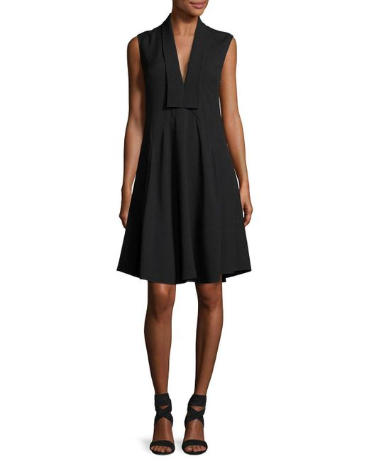 Derek Lam - Black Sleeveless V-neck Silk Dress - Lyst