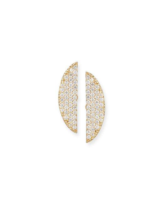 Lana Jewelry - Metallic Eclipse 14k Pavé Diamond Earrings - Lyst