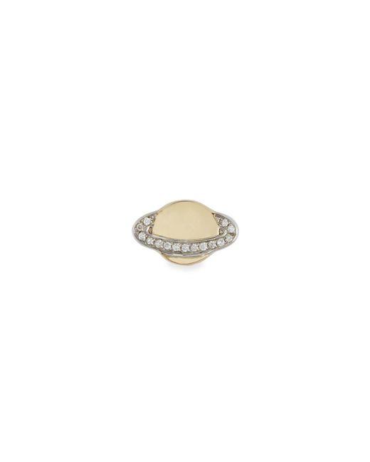 Sydney Evan | Metallic 14k Small Saturn Stud Earring W/ Diamonds | Lyst