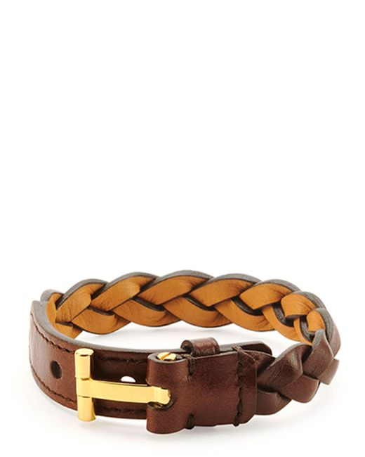 Tom Ford | Brown Nashville Men's Braided Leather Bracelet | Lyst