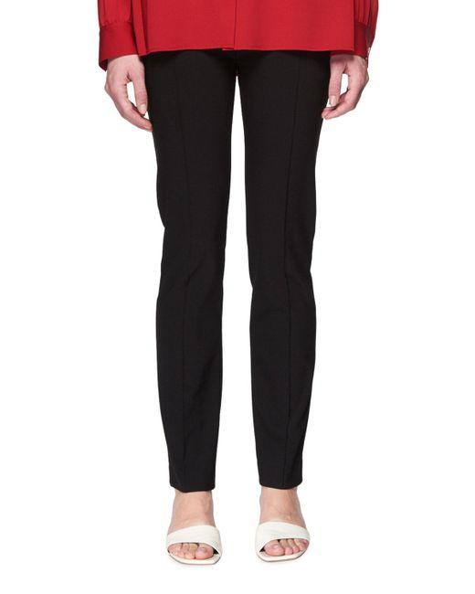 The Row - Black Tao Straight-leg Stretch-cotton Pants - Lyst