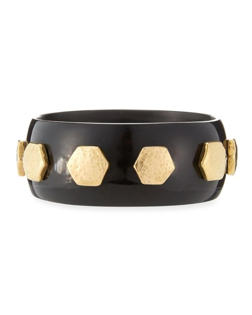 Ashley Pittman | Brown Rasmi Dark Horn Bangle | Lyst