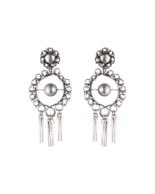 DANNIJO   Metallic Ash Statement Earrings   Lyst