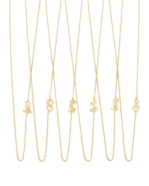 Jennifer Zeuner - Metallic 18k Gold Vermeil Mini Initial Necklace - Lyst