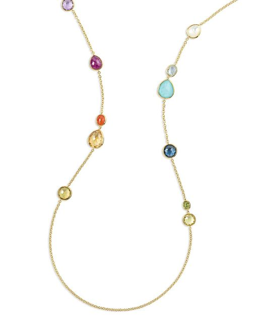 Ippolita - Metallic 18k Rock Candy® Mixed Stone Long Necklace In Summer Rainbow - Lyst