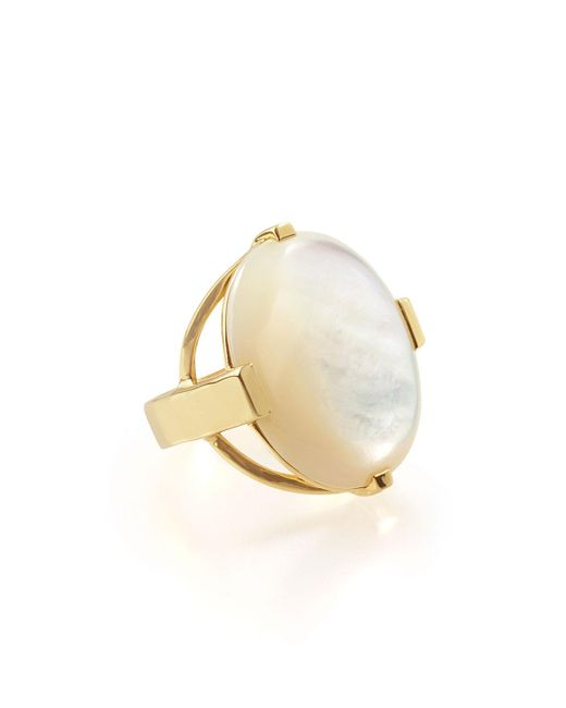 Ippolita - White 18k Polished Rock Candy Large Mother-of-pearl Oval Ring - Lyst
