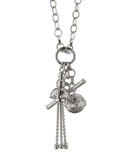 Monica Rich Kosann - Metallic Sterling Silver Charm Pendant Necklace - Lyst