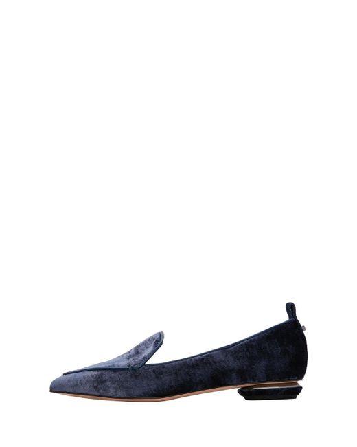 Nicholas Kirkwood - Blue Beya 18mm Velvet Loafers - Lyst