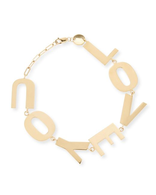 Jennifer Zeuner   Metallic Love You Bracelet In 18k Gold Plate   Lyst