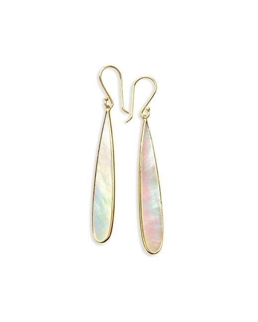 Ippolita | Metallic 18k Rock Candy Mother-of-pearl Long Drop Earrings | Lyst