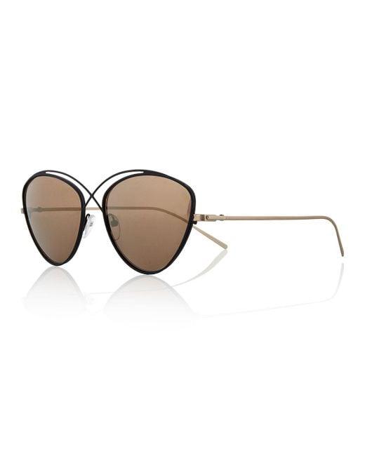 Prism | Black Brooklyn Metal Cat-eye Sunglasses | Lyst