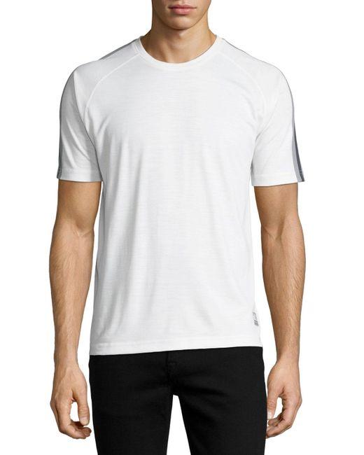 Zegna Sport | White Techmerino Jersey Short-sleeve Shirt for Men | Lyst