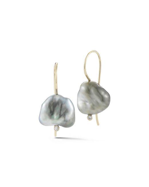 Mizuki   Metallic Sea Of Beauty Pearl & Diamond Drop Earrings   Lyst