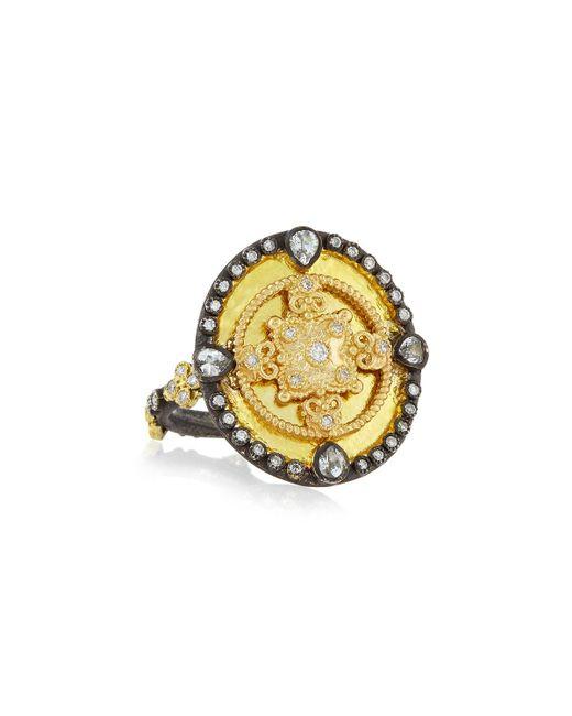 Armenta   Metallic Oid World Heraldry Oval Shield Ring   Lyst