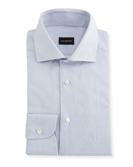 Ermenegildo Zegna - White Micro-stripe Cotton Dress Shirt for Men - Lyst