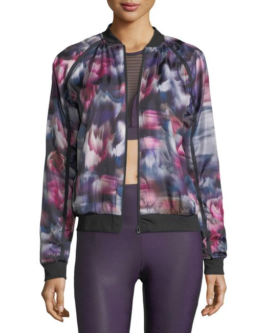Onzie - Multicolor Fast Flower Performance Bomber Jacket - Lyst