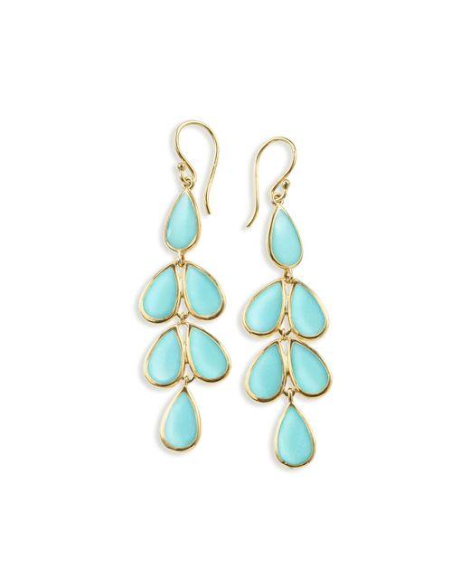 Ippolita - Blue 18k Polished Rock Candy Teardrop Earrings - Lyst