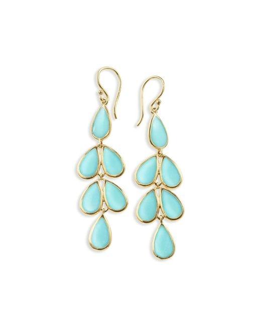 Ippolita   Blue 18k Rock Candy Turquoise Teardrop Earrings   Lyst