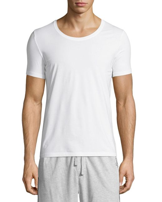 Hanro - Black Cotton Superior Short-sleeve Crewneck Tee for Men - Lyst