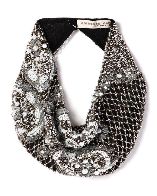 Mignonne Gavigan - Black Le Charlot Beaded Scarf Necklace - Lyst
