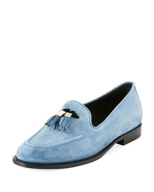 eb765224db0 Lyst - Giuseppe Zanotti Men s Suede Tassel Loafer in Blue for Men ...