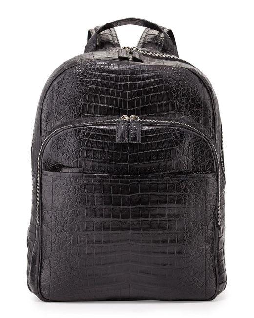 Santiago Gonzalez   Black Crocodile Backpack for Men   Lyst