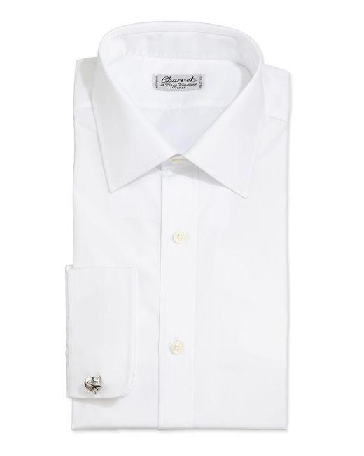 Charvet - White Solid Poplin Dress Shirt for Men - Lyst